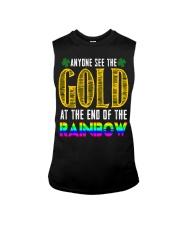 LuckyAnyone Gold Rainbow StPatricks  Sleeveless Tee thumbnail