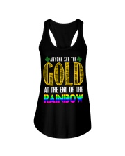 LuckyAnyone Gold Rainbow StPatricks  Ladies Flowy Tank thumbnail