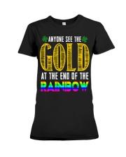 LuckyAnyone Gold Rainbow StPatricks  Premium Fit Ladies Tee thumbnail