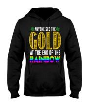 LuckyAnyone Gold Rainbow StPatricks  Hooded Sweatshirt thumbnail