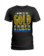 LuckyAnyone Gold Rainbow StPatricks  Ladies T-Shirt thumbnail