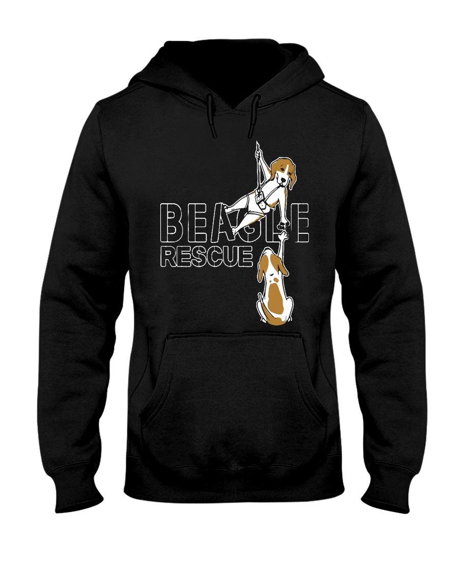 T-shirts Hoodie Sweater BEAGLE RESCUE Hooded Sweatshirt