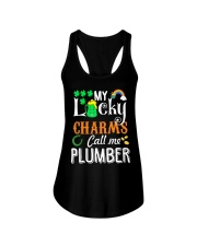 Plumber StPatricks day Ladies Flowy Tank thumbnail