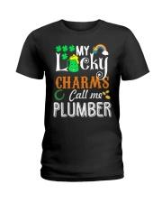 Plumber StPatricks day Ladies T-Shirt thumbnail