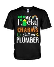 Plumber StPatricks day V-Neck T-Shirt thumbnail