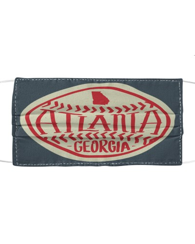 Atlanta Georgia Typographic Baseball