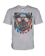 BULL DOG USA V-Neck T-Shirt tile