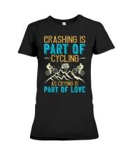 CRASHING IS PART Premium Fit Ladies Tee thumbnail