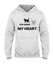 YOU MAKE MY HEART Hooded Sweatshirt tile