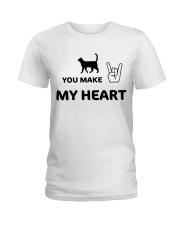 YOU MAKE MY HEART Ladies T-Shirt tile