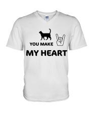 YOU MAKE MY HEART V-Neck T-Shirt tile