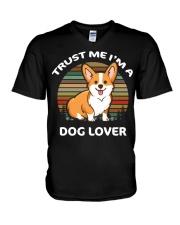 TRUST ME I'M A DOG LOVER V-Neck T-Shirt tile