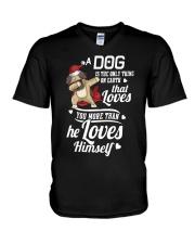Dog is Best Friend V-Neck T-Shirt tile
