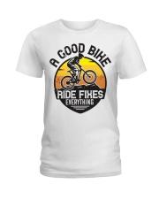Bike and mountain Ladies T-Shirt tile