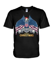MERRY CHRISTMAS V-Neck T-Shirt tile