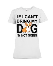 IF I CAN'T BRING MY DOG Premium Fit Ladies Tee tile