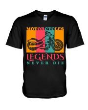 Motorcycle V-Neck T-Shirt thumbnail