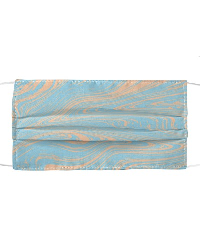Marble Ebru Cloth Face Mask Light Blue