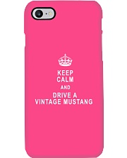 Keep Calm and Drive a Vintage Mustang - Ford Phone Case thumbnail