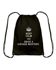 Keep Calm and Drive a Vintage Mustang - Ford Drawstring Bag thumbnail