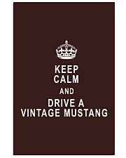 Keep Calm and Drive a Vintage Mustang - Ford 11x17 Poster thumbnail