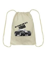 Ac Cobra - Vintage Ford car - Caroll Shelby-Racing Drawstring Bag thumbnail