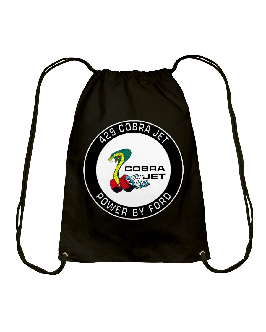 429 Cobra Jet Power by Ford-Mustang-Torino-Mercury Drawstring Bag
