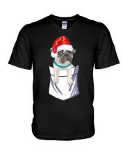 Pug lovers V-Neck T-Shirt thumbnail
