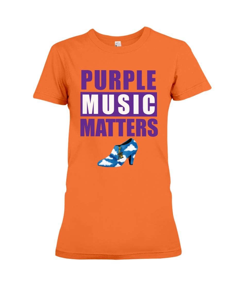 Purple Music Matters Premium Fit Ladies Tee