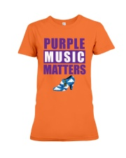 Purple Music Matters Premium Fit Ladies Tee front