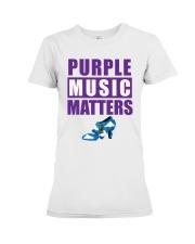 Purple Music Matters Premium Fit Ladies Tee tile
