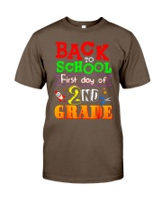 Back To School Shirt First Day Of 2nd Grade Shirt Classic T-Shirt front