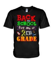 Back To School Shirt First Day Of 2nd Grade Shirt V-Neck T-Shirt thumbnail