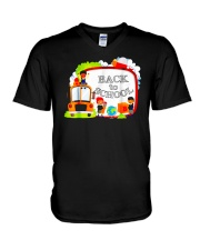Back To School Shirt Funny Gift For Teachers Stude V-Neck T-Shirt thumbnail