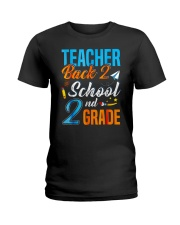 Back To School Shirt Funny For 2nd Grade Teacher Ladies T-Shirt tile