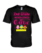 Back To School Shirt Second Grade Two V-Neck T-Shirt thumbnail