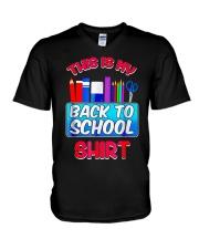 Back to School Shirt Teacher Shirt Student V-Neck T-Shirt thumbnail