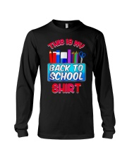 Back to School Shirt Teacher Shirt Student Long Sleeve Tee thumbnail