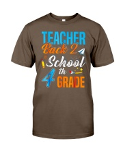 Back To School Shirt For 4th Grade Teacher Stude Classic T-Shirt front
