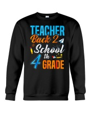 Back To School Shirt For 4th Grade Teacher Stude Crewneck Sweatshirt thumbnail