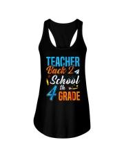 Back To School Shirt For 4th Grade Teacher Stude Ladies Flowy Tank thumbnail