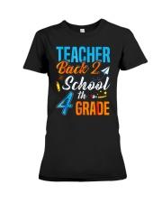 Back To School Shirt For 4th Grade Teacher Stude Premium Fit Ladies Tee thumbnail