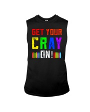 Back to School Shirt Get Your Cray On Sleeveless Tee thumbnail