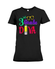 Back To School Shirt Funny 3rd Grade Diva Shirt Premium Fit Ladies Tee thumbnail