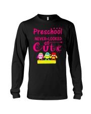 Back To School Shirt Preschool Looked Cute Long Sleeve Tee thumbnail