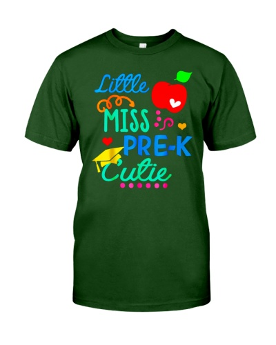 Back To School Shirt Funny Little Miss Pre