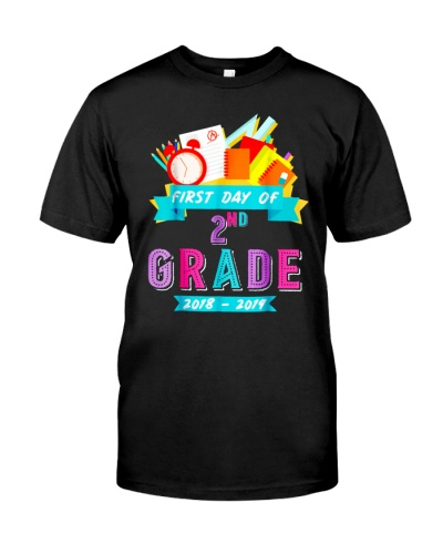 Back To School Shirt First Day Of 2nd Grade 2018
