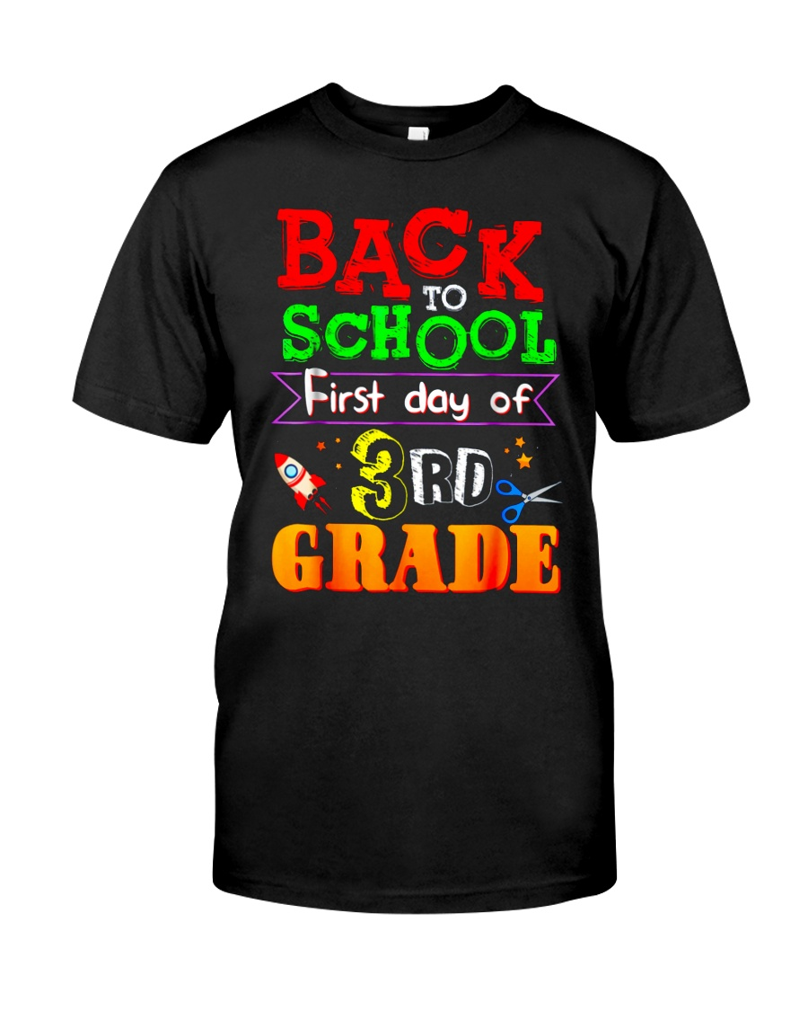 Back To School Shirt First Day Of 3rd Grade Shirt Classic T-Shirt
