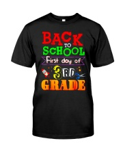 Back To School Shirt First Day Of 3rd Grade Shirt Classic T-Shirt front