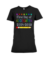 Back To School First Day Of Kindergarten Premium Fit Ladies Tee thumbnail